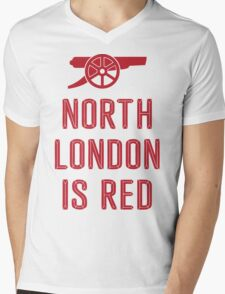 Arsenal - North London is Red Mens V-Neck T-Shirt