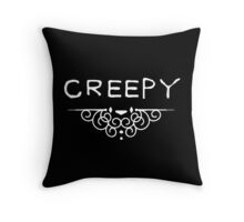 Creepy Black and White Throw Pillow