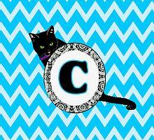 C Cat Chevron Monogram by gretzky