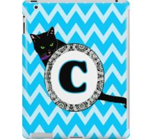 C Cat Chevron Monogram iPad Case/Skin