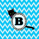 B Cat Chevron Monogram by gretzky