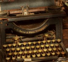 Typewriter - My bosses office Sticker