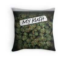 My Kush Weed Purple Haze Cannabis design Floral hemp marijuana Throw Pillow