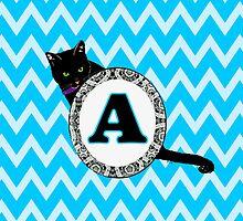A Cat Chevron Monogram by gretzky
