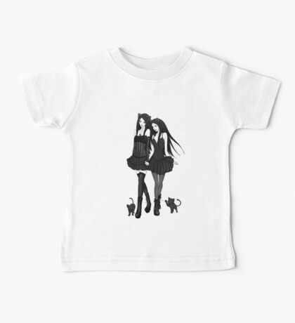 """Courtney and Laura: two cat girls"" Baby Tee"