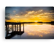 Golden Warmth at Sunset Canvas Print