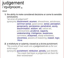 What is Judgement ? by santoshputhran