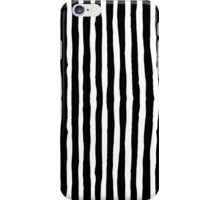 Black and White Ink Stripes iPhone Case/Skin