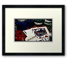 Cartooned Poker Framed Print