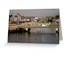 Fishing Village Nova Scotia Canada Greeting Card