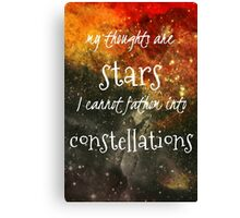 TFIOS Galaxy Quote Canvas Print
