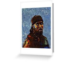Omar Little - by Van Gogh Greeting Card