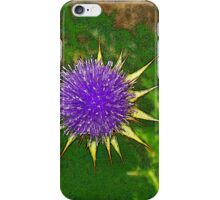 thistle flower iPhone Case/Skin