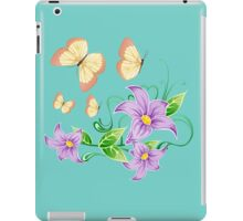 Cute butterflies in flowers iPad Case/Skin