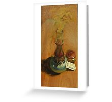 What we see there aren't giants but windmills Greeting Card