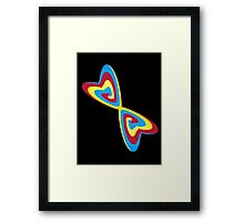 StuCk in A FiGuRe of EigHt Framed Print