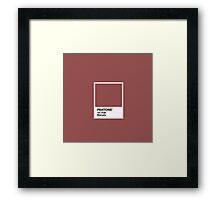 Marsala Pantone Framed Print