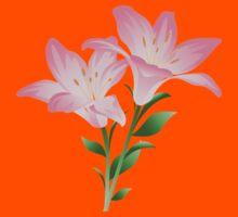 Pink watercolor flowers Kids Tee