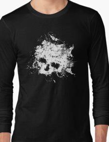 Splat Skull t shirt Long Sleeve T-Shirt