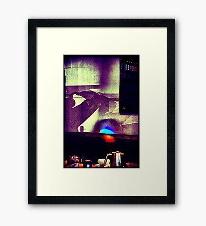 Café. Lomography Framed Print
