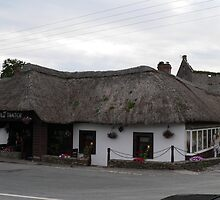 """""""The old Thatch""""Yr 1665,,Killeagh,Co.Cork,Ireland, by Pat Duggan"""