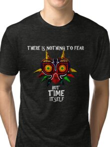 Majoras Mask Nothing to fear but time itself Tri-blend T-Shirt