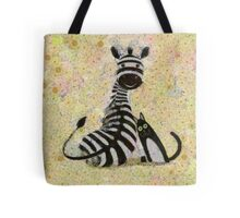 ZEBRA WITH CAT Tote Bag