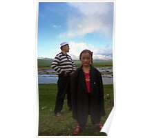 Father and Daughter - Tagong Grasslands Poster