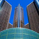 Ren Cen Detroit MI by Mark Malinowski
