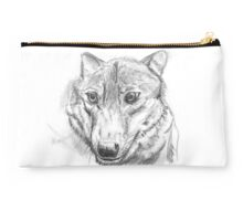 Proud silver wolf Studio Pouch