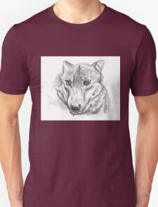 Proud silver wolf Unisex T-Shirt