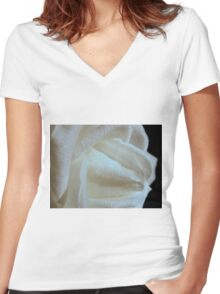 Middle Earth Rose  Women's Fitted V-Neck T-Shirt