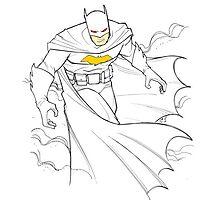 Batman Sketch Photographic Print