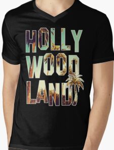 Hollywood Land! Mens V-Neck T-Shirt