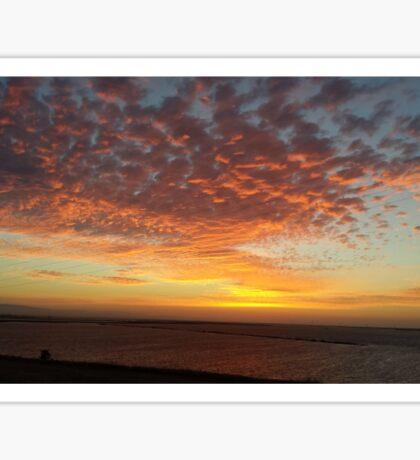 Bay Area Delta Sunset Landscape Sticker