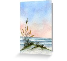 Sunset Seascape & Dunes Greeting Card