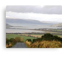 Lough Swilly with snow capped Donegal Hills - Donegal Ireland  Canvas Print
