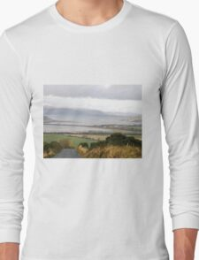Lough Swilly with snow capped Donegal Hills - Donegal Ireland  Long Sleeve T-Shirt