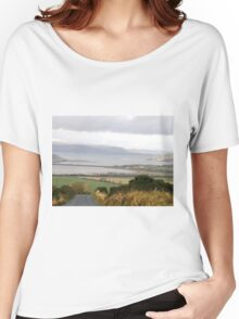 Lough Swilly with snow capped Donegal Hills - Donegal Ireland  Women's Relaxed Fit T-Shirt