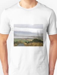 Lough Swilly with snow capped Donegal Hills - Donegal Ireland  T-Shirt