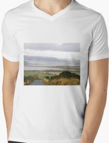 Lough Swilly with snow capped Donegal Hills - Donegal Ireland  Mens V-Neck T-Shirt