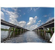 Interstate Ten over the Atchafalaya Basin  Poster
