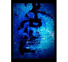 Blue one Photographic Print