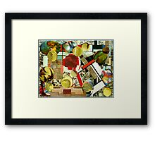 Playing Ping Pong. Framed Print