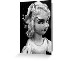 """""""Lonely Girl Black and White"""" Greeting Card"""
