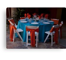 Fiesta Table Canvas Print