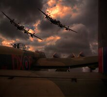 Three Lancasters by Nigel Bangert