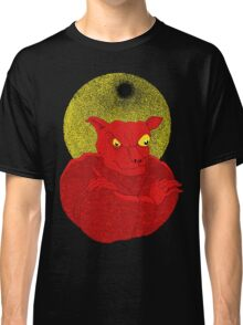 Red Cat Demon up to no good under a bad moon Classic T-Shirt
