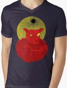 Red Cat Demon up to no good under a bad moon T-Shirt