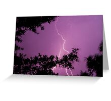 Purple Lightning Bolt Greeting Card